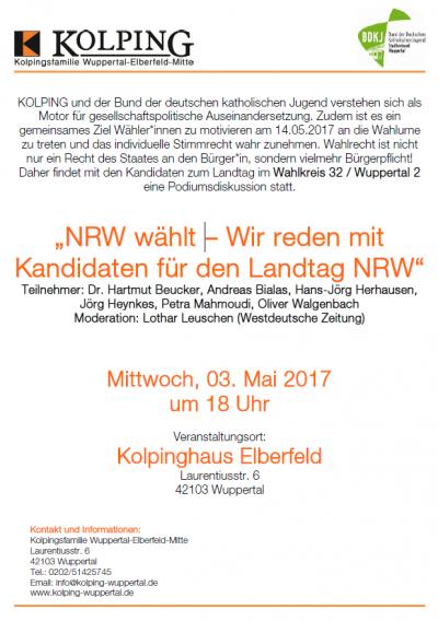 NRW wählt – Wir reden mit Kandidaten für den Landtag NRW