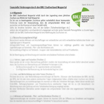 Änderung Antragsformular & Förderrichtlinien