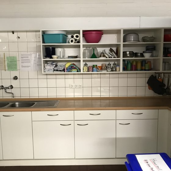 Die kleinere der beiden Küchen.