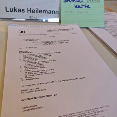 Vollversammlung des Jugendring Wuppertal e.V.
